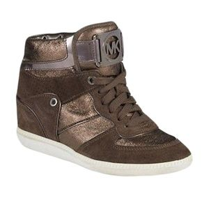 MICHAEL KORS NIKKO HIGH TOP WEDGE SNEAKERS 8